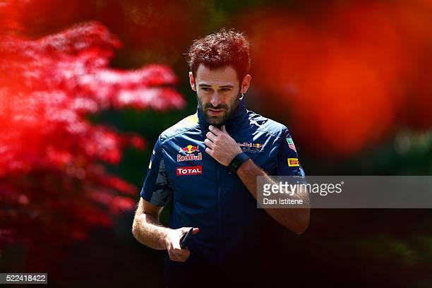 Sam Village, personal trainer to Daniel Ricciardo of Australia and Red Bull Racing, walks in the paddock before the Formula One Grand Prix of China...