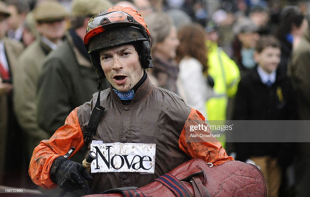 Sam Waley-Cohen after riding Long Run to win The William Hill King George VI Steeple Chase at Kempton racecourse on December 26, 2012 in Sunbury, England.