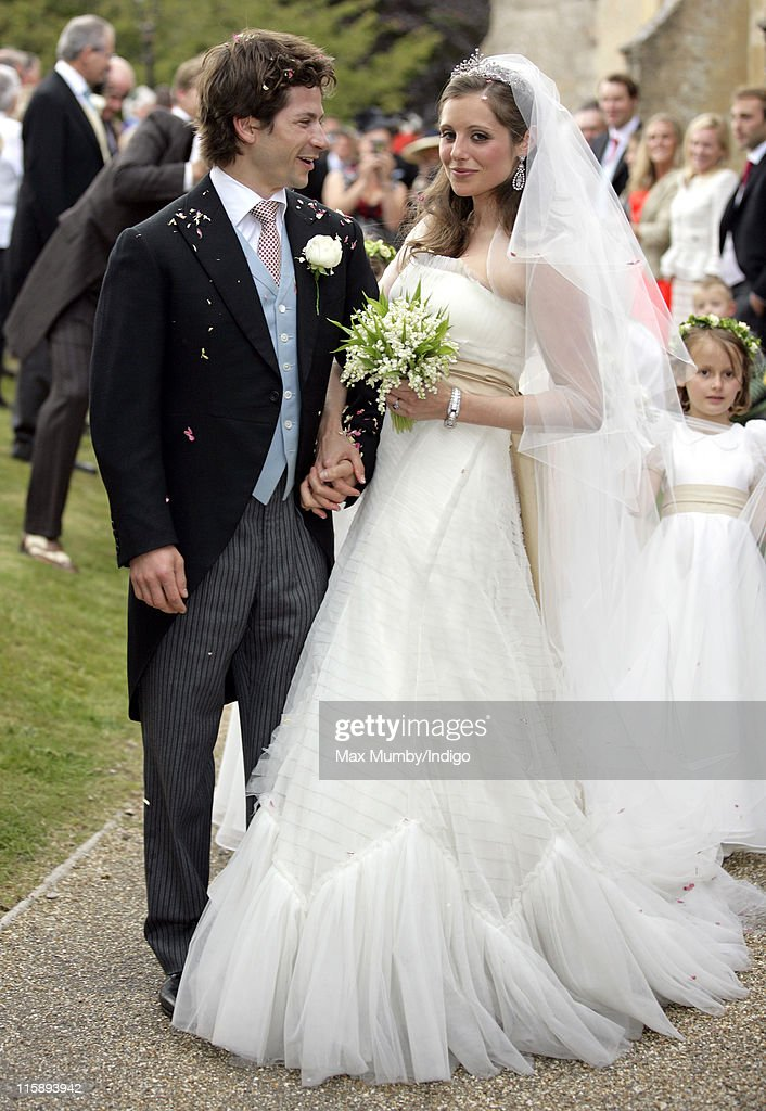 sam waleycohen and annabel ballin after their wedding at