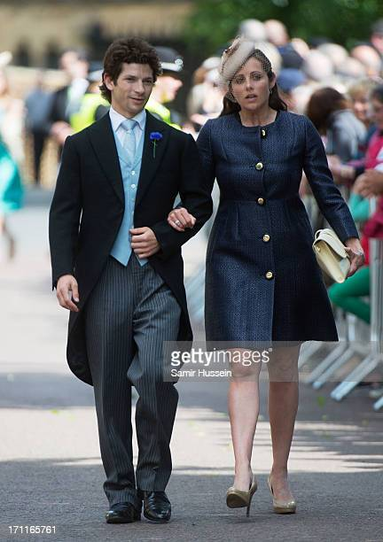 Sam Waley-Cohen and Annabel Waley-Cohen arrive for the wedding of Melissa Percy and Thomas Staubenzee at Alnwick Castle on June 22, 2013 in Alnwick,...