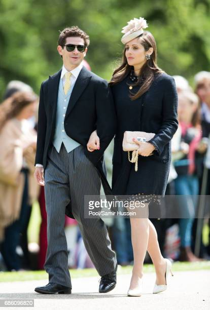 Sam WaleyCohen and Annabel WaleyCohen attend the wedding Of Pippa Middleton and James Matthews at St Mark's Church on May 20 2017 in Englefield Green...