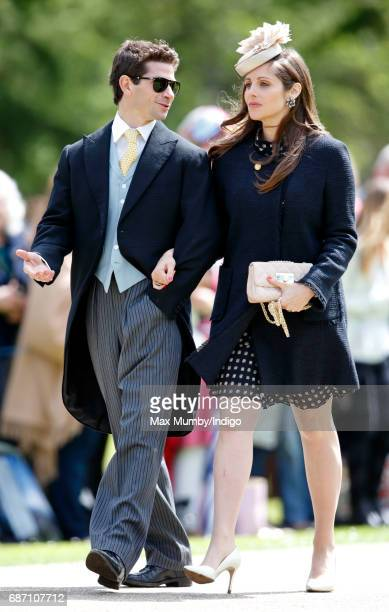 Sam Waley-Cohen and Annabel Waley-Cohen attend the wedding of Pippa Middleton and James Matthews at St Mark's Church on May 20, 2017 in Englefield...