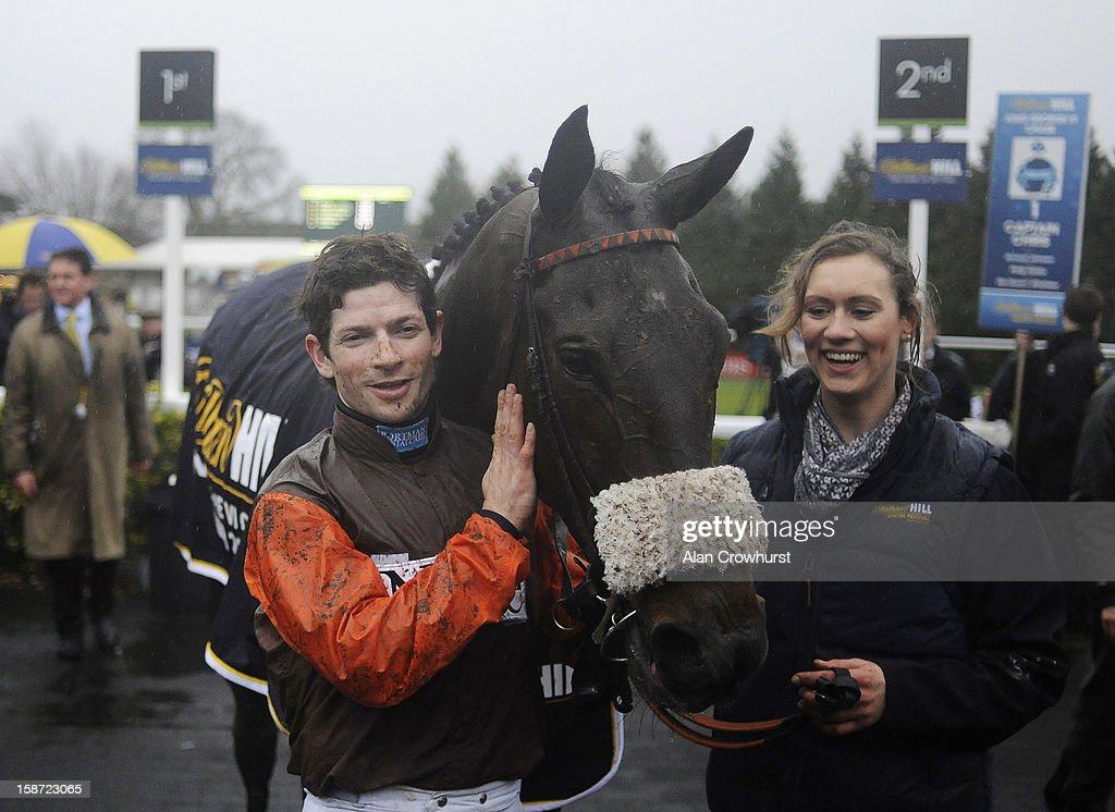 Sam Waley-Cohen poses after riding Long Run to win The William Hill King George VI Steeple Chase at Kempton racecourse on December 26, 2012 in Sunbury, England.