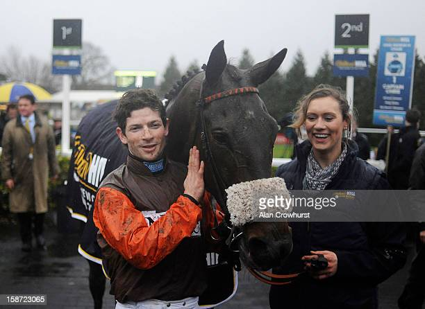 Sam Waley-Cohen poses after riding Long Run to win The William Hill King George VI Steeple Chase at Kempton racecourse on December 26, 2012 in...