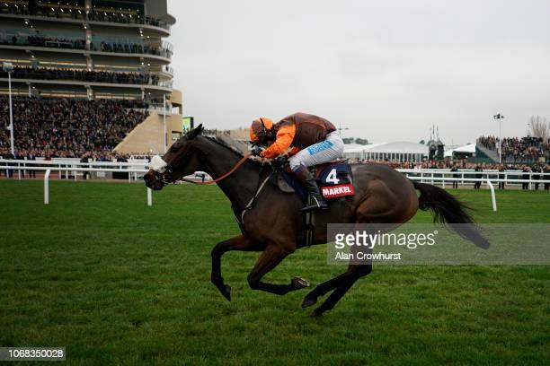 Sam Waley-Cohen riding The Young Master clear the last to win The Markel Insurance Amateur Riders' Handicap Chase at Cheltenham Racecourse on...