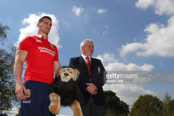 Sam Warburton and Warren Gatland pose for the cameras during the British and Irish Lions tour squad announcement at the Hilton London Syon Park Hotel...