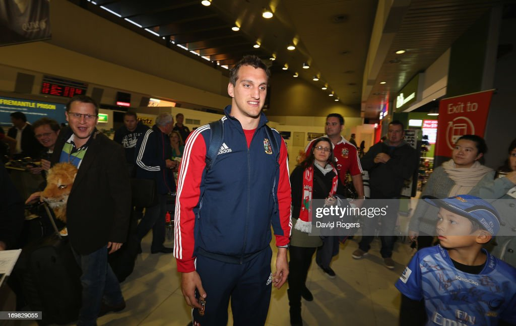 Sam Warburton, captain of the British and Irish Lions arrives at Perth Airport on June 3, 2013 in Perth, Western Australia.
