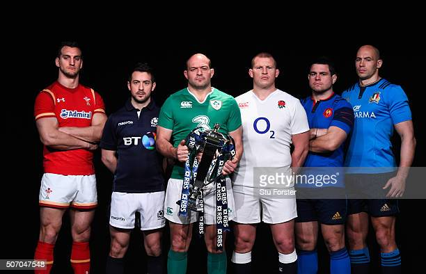 Sam Warburton captain of Wales Greig Laidlaw captain of Scotland Rory Best captain of Ireland Dylan Hartley captain of England Guilhem Guirado...