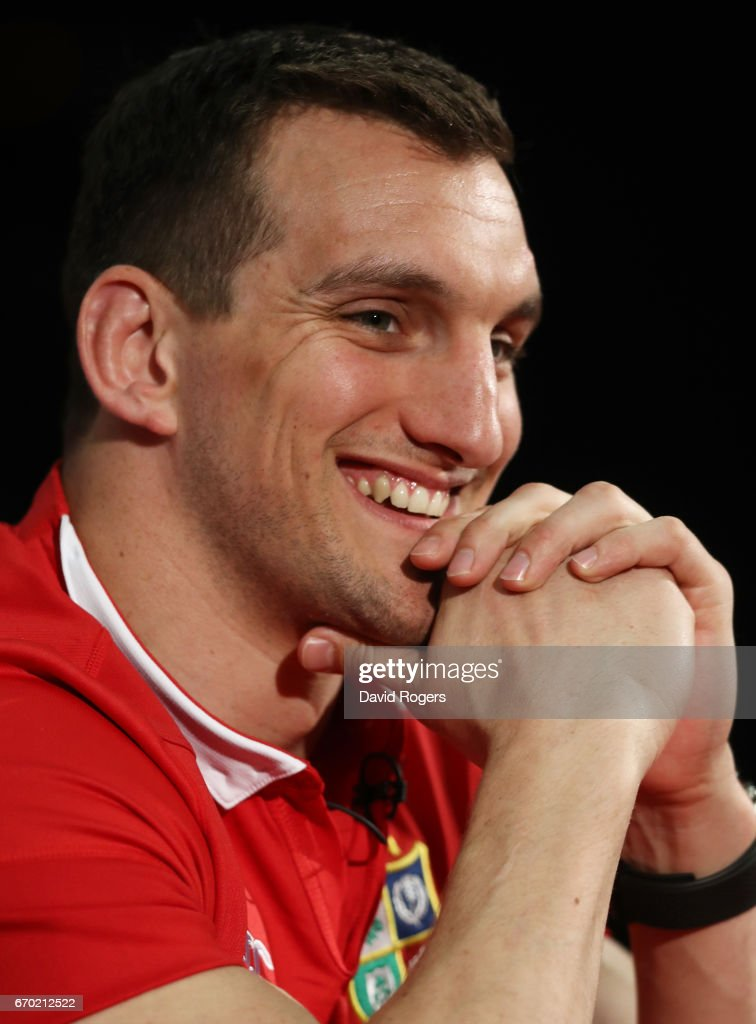 Sam Warburton (Captain) speaks to the media during the British and Irish Lions tour squad announcement at the Hilton London Syon Park Hotel on April 19, 2017 in London, England.
