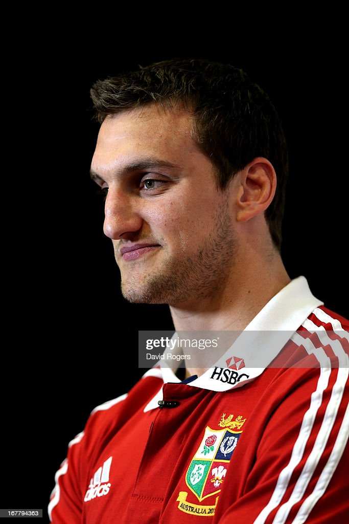 Sam Warburton The British and Irish Lions Captain is interviewed following the 2013 British and Irish Lions tour squad and captain announcement at London Syon Park Hotel on April 30, 2013 in London, England.