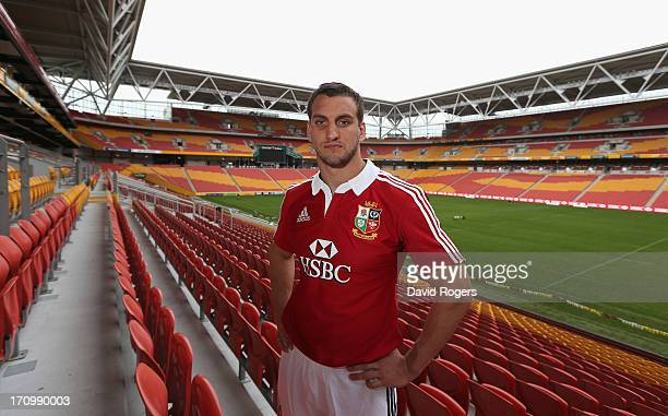 Sam Warburton the Lions captain poses after the British and Irish Lions training session held at the Suncorp Stadium on June 21 2013 in Brisbane...