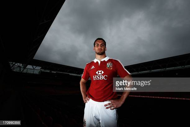 Sam Warburton, the Lions captain, poses after the British and Irish Lions training session held at the Suncorp Stadium on June 21, 2013 in Brisbane,...