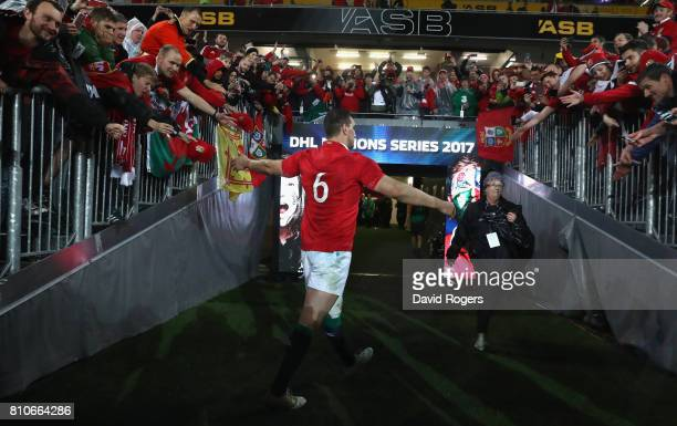 Sam Warburton, the Lions captain, walks down the tunnel after the draw the final test 15-15 and tie the series during the Test match between the New...