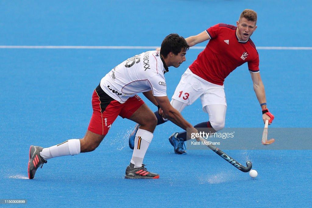 GBR: Great Britain v Belgium - Men's FIH Field Hockey Pro League