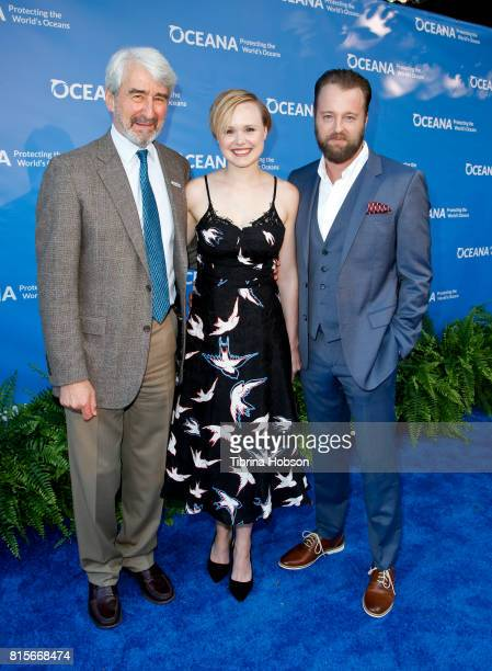 Sam Waterston Alison Pill and Joshua Leonard attend the 10th annual Oceana SeaChange Summer Party at Private Residence on July 15 2017 in Laguna...
