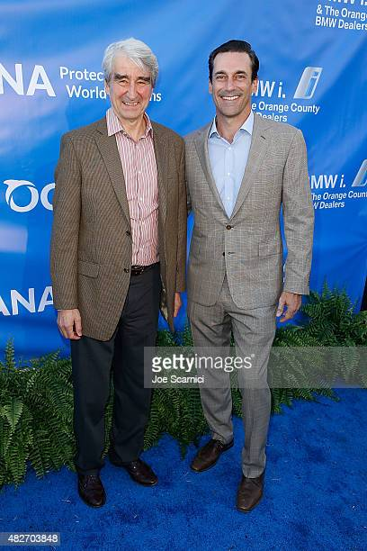 Sam Waterston and Jon Hamm attend the 8th Annual Oceana SeaChange Summer Party at Strands Beach on August 1 2015 in Dana Point California