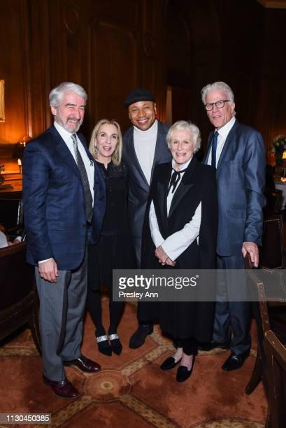 Sam Waterston Susan Cohn Rockefeller LL Cool J Glenn Close and Ted Danson attend Susan Rockefeller's Birthday Bash at The California Club on February...
