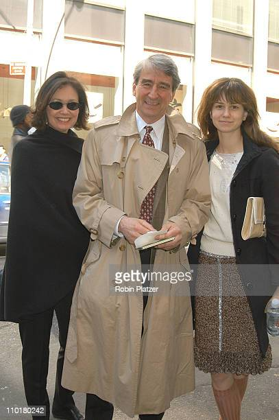 Sam Waterston with wife Lynn daughter Katherine during A Year with Frog Toad Opens on Broadway at the cort Theatre in New York New York United States