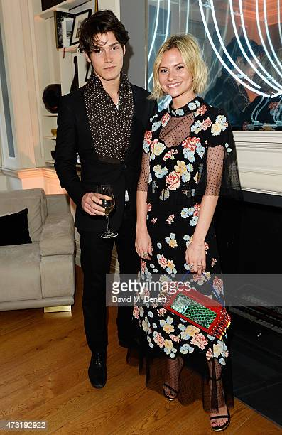 Sam Way and Pandora Sykes arrive at the closing party of 'Les 3 Etages By Dom Perignon' with Sunday Times Style on May 13 2015 in London England