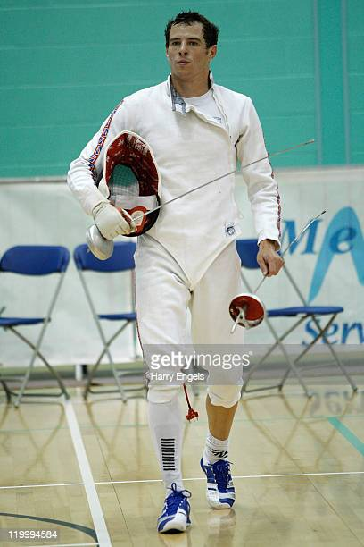 Sam Weale of Great Britain looks on during the men's semi final round at the modern pentathlon European Championships at Medway Park on July 28 2011...