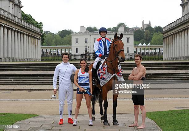 Sam Weale Samantha Murray Mhairi Spence and Nick Woodbridge during the announcement of Modern Pentathlon Athletes Named in Team GB for the London...