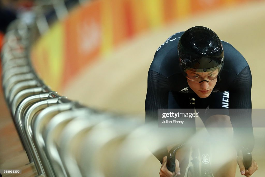 Sam Webster of New Zealand competes in the Men's Sprint Qualifying on Day 7 of the Rio 2016 Olympic Games at the Rio Olympic Velodrome on August 12, 2016 in Rio de Janeiro, Brazil.