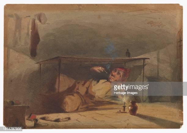 Sam Weller's Landlord in the Fleet, 1853-1855. Artist James Abbott McNeill Whistler.