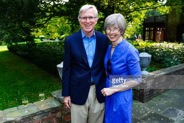 Sam White and Elizabeth White attend A Country House Gathering To Benefit Preservation Long Island on June 28 2019 in Locust Valley New York