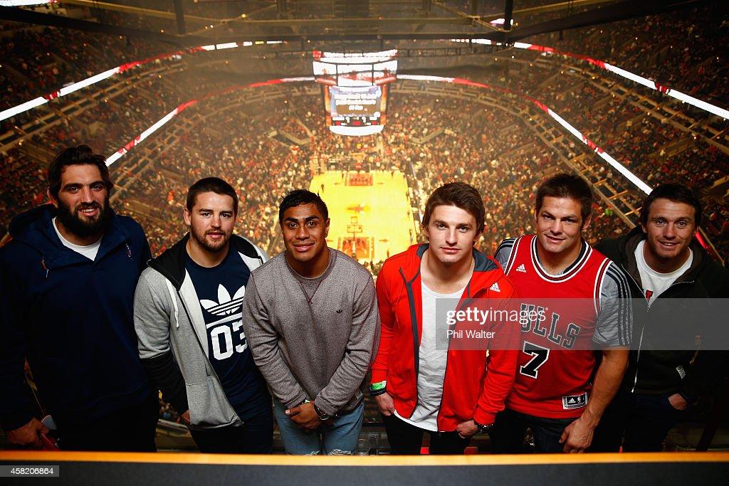 New Zealand All Blacks Attend Chicago Bulls Game