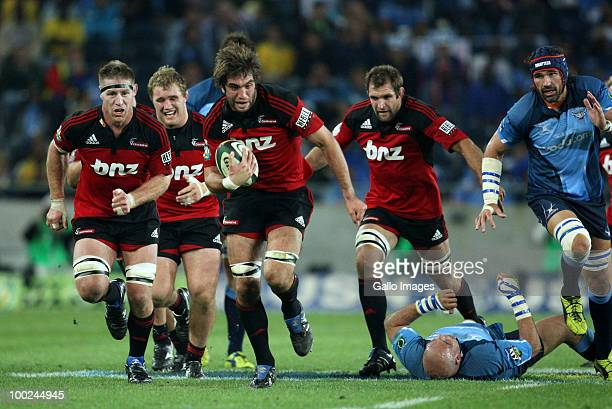Sam Whitelock of the Crusaders in action during the Super 14 semi-final match between Vodacom Bulls and Crusaders at Orlando Stadium on May 22, 2010...