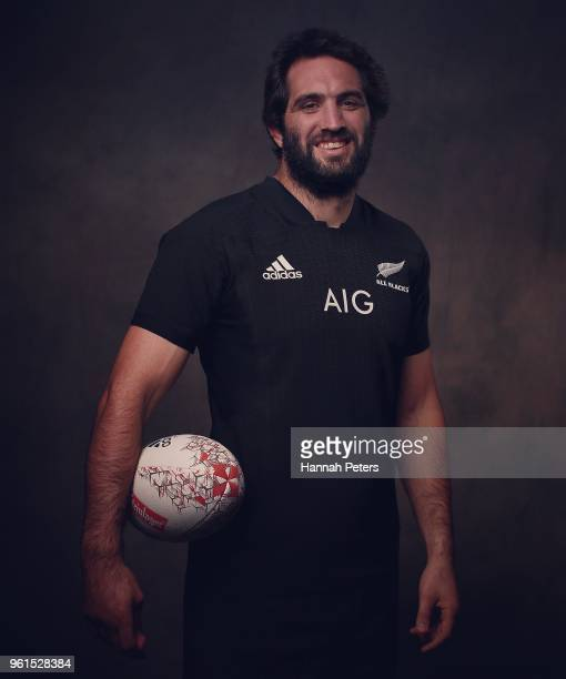 Sam Whitelock poses during a New Zealand All Blacks portraits session on May 21 2018 in Auckland New Zealand