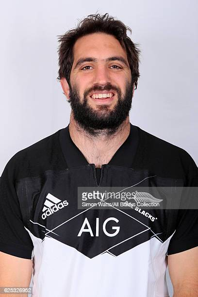 Sam Whitelock poses during the All Blacks End of Year Tour 2016 Headshots Session at Auckland International Airport Novotel on October 28 2016 in...