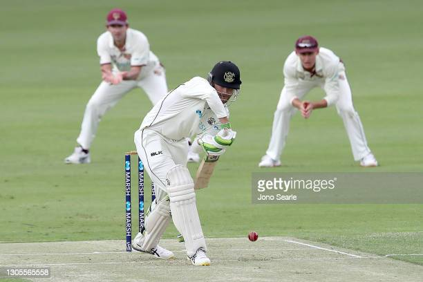 Sam Whiteman of WA bats during day one of the Sheffield Shield match between Queensland and Western Australia at The Gabba on March 06, 2021 in...