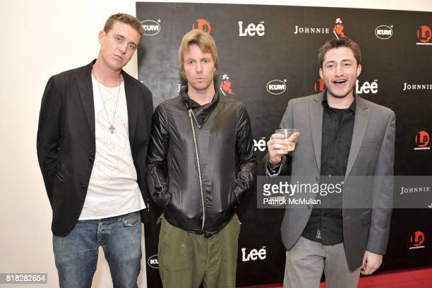 Sam Whitney Elijah Blue and Aaron Axelrod attend Elijah Blue And Kantor Gallery Present 'StepandRepeat' at Kantor Gallery on February 24 2010 in Los...