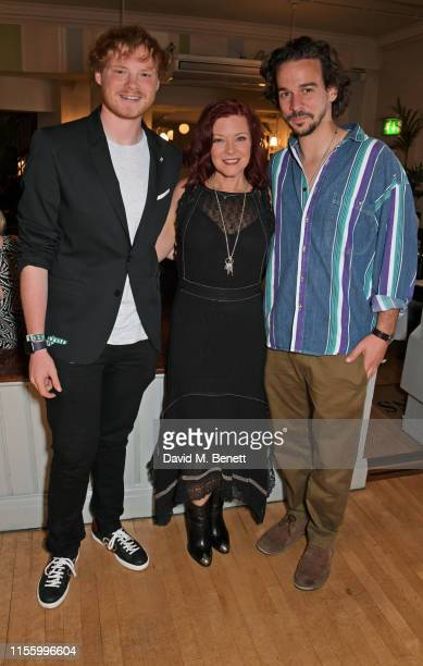 Sam Williams Finty Williams and Joseph Timms attend the press night after party for The Night Of The Iguana at Browns on July 16 2019 in London...