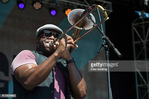 Sam Williams of Big Sam's Funky Nation performs on September 25 2016 in Franklin Tennessee