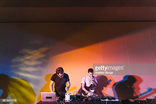 Sam Willis and Alessio Natalizia of Walls perform at the Millennium Gallery Stage at Tramlines Festival on July 24 2015 in Sheffield United Kingdom