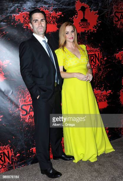 Sam Witwer and Annie Wersching pose in the press room at the Academy Of Science Fiction Fantasy Horror Films' 44th Annual Saturn Awards at The...