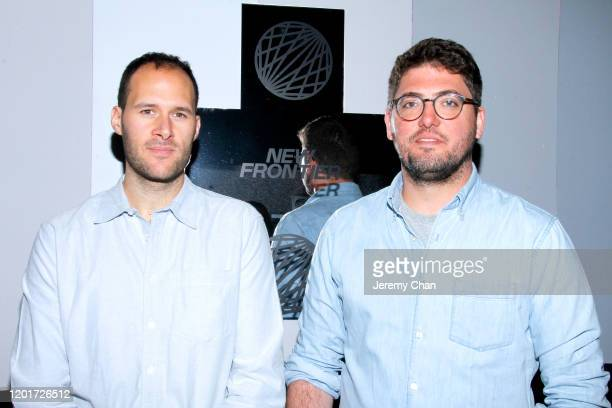"""Sam Wolson and Dominic Nahr of """"After the Fallout"""" attend the New Frontier Press Preview during the 2020 Sundance Film Festival at New Frontier..."""