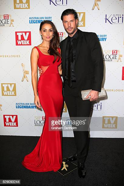 Sam Wood and Snezana Markoski arrive at the 58th Annual Logie Awards at Crown Palladium on May 8 2016 in Melbourne Australia