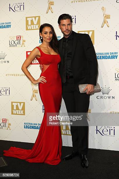 Sam Wood and Snezana Markoski arrives at the 58th Annual Logie Awards at Crown Palladium on May 8 2016 in Melbourne Australia