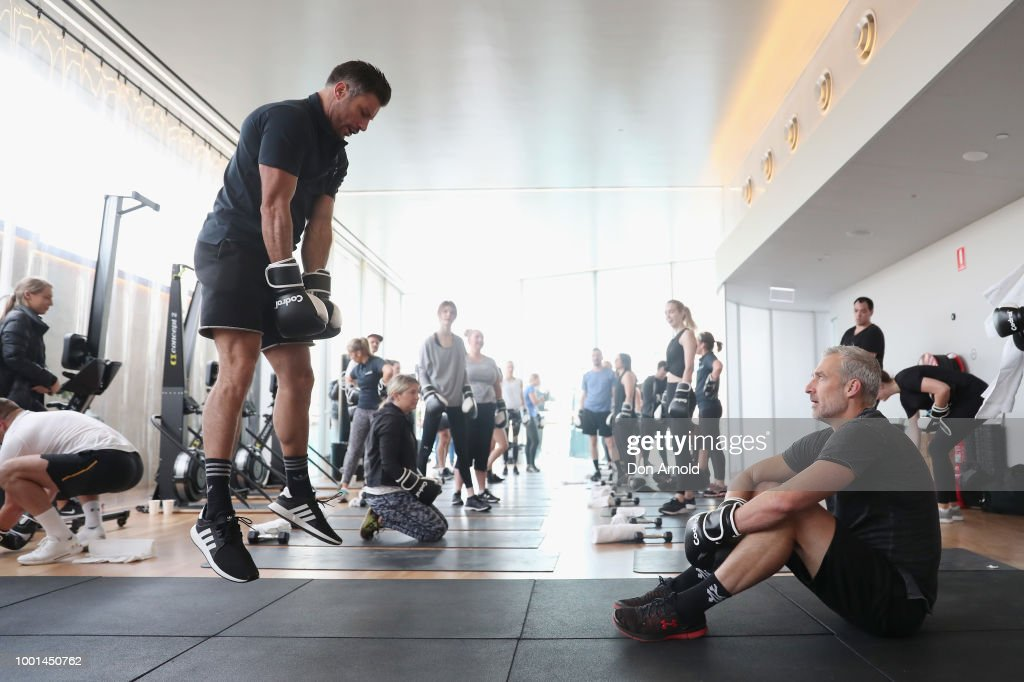 Celebrities Attend Sam Wood Boxing Class