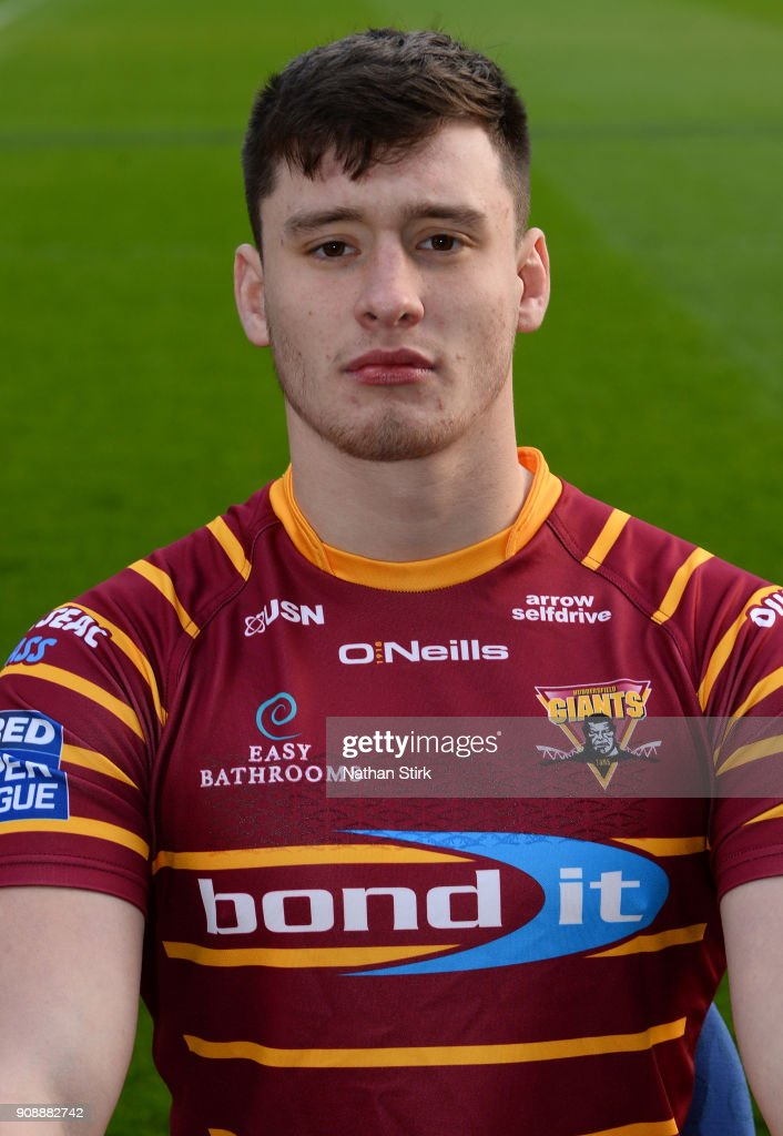 Sam Wood of Huddersfield Giants poses for a portrait during the Huddersfield Giants Media Day at John Smith's Stadium on January 22, 2018 in Huddersfield, England.