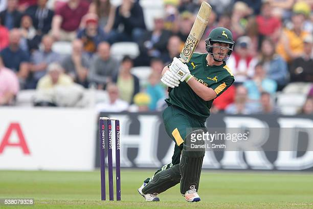 Sam Wood of Notts Outlaws bats during the NatWest T20 Blast match between Notts Outlaws and Lancashire Lightning at Trent Bridge on June 4 2016 in...
