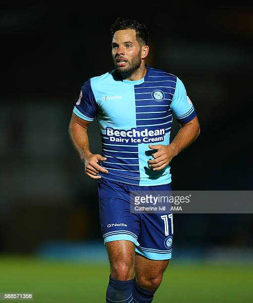 Sam Wood of Wycombe Wanderers during the EFL Cup match between Wycombe Wanderers and Bristol City at Adams Park on August 8 2016 in High Wycombe...