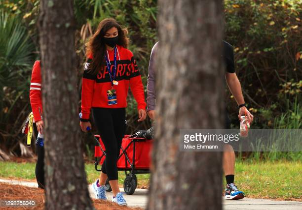 Sam Woods, daughter of Tiger Woods of the United States during the final round of the PNC Championship at the Ritz-Carlton Golf Club Orlando on...