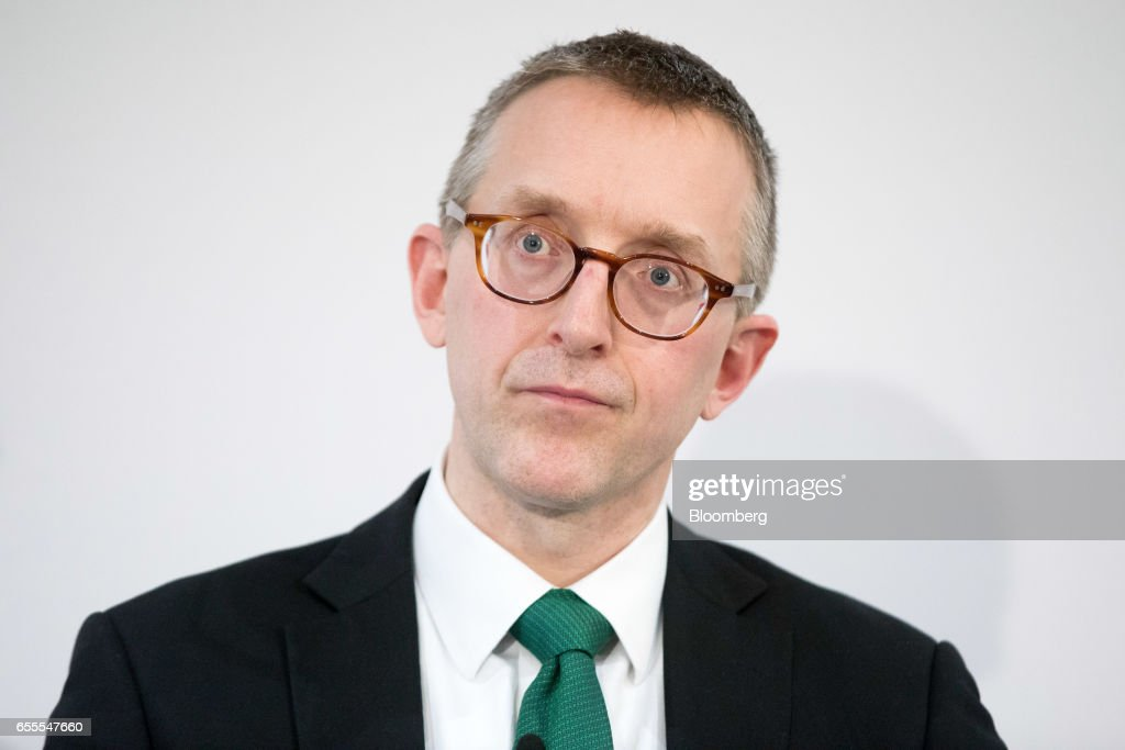 Sam Woods, deputy governor for prudential regulation at the Bank of England (BOE) and chief executive officer of the Prudential Regulation Authority (PRA), pauses as he delivers a speech at the London Business School in London, U.K., on Monday, March 20, 2017. Woods, said concept of a risk margin is a sensible one, but its current implementation in Solvency II is flawed. Photographer: Jason Alden/Bloomberg via Getty Images