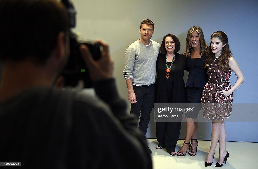 Sam Worthington, Adriana Barraza and Jennifer Aniston and Anna Kendrick attends the Guess Portrait Studio during 2014 Toronto International Film Festival on September 9, 2014 in Toronto, Canada.