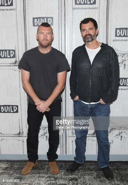 Sam Worthington and Greg Yaitanes attend Build Series to discuss their new show 'Manhunt UNABOMBER' at Build Studio on July 20 2017 in New York City