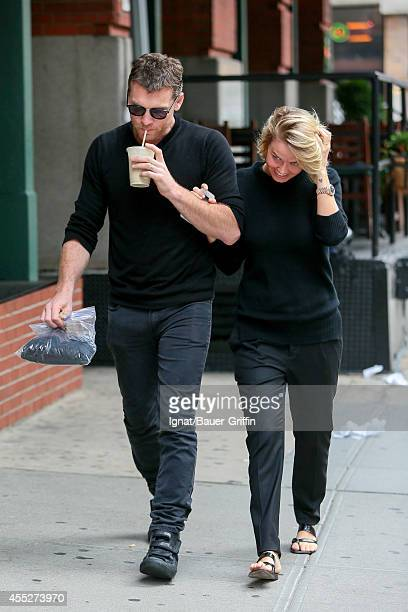 Sam Worthington and Lara Bingle are seen in New York City on September 11 2014 in New York City